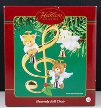 Carlton HEAVENLY BELL CHOIR Angel Bears Musical CLEF bells New in Box - $18.95