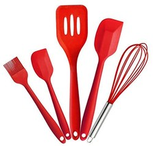 Joyoldelf Premium Silicone Kitchen Utensils Set 5 Piece in Hygienic Soli... - €11,05 EUR