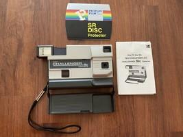 Vintage KODAK Tele Challenger Disc Camera with case & Manual & SR Disc Protector - $9.49