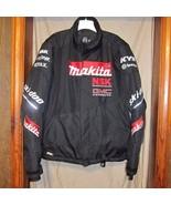Black Skidoo Racing Makita Snowmobile Jacket Coat Mens Size Large - $144.05