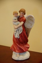 Homco Angel Mother Child Baby Bisque Porcelain Figurine Tag Attached No Chips - $19.99