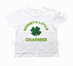 NWT Gymboree Embossed Mommy's Little Charmer White T-Shirt Appliqué Shamrock Tee - $14.99