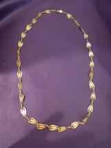 Trifari Bracelet and Necklace Set of Gold Tone Signed Designer Jewelry - $40.10