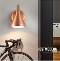 Denmark Nordic Nordlux Metal Sconce Copper Finish E27 Light Wall Lamp Float - $67.61