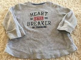 Jumping Beans Boys Gray Heart Breaker In Training Long Sleeve Shirt 18 Months - $4.00
