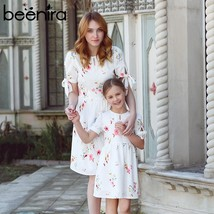 Beenira 2019 New European And American Style Family Dresses Flower Patte... - $39.90