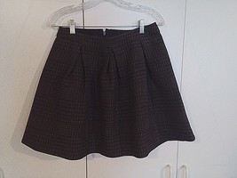 EXPRESS LADIES MINI-SKIRT-8-NWT-$60 ORIG.-POLYESTER/ELASTANE-FULL w/PLEA... - $20.00