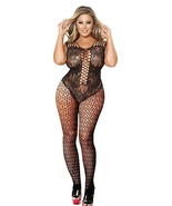 Curbigals crotchless bodystocking Plus Size Open Crotch Teddy Lingerie f... - $7.63