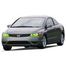 FLASHTECH for Honda Civic 06-08 Green Single Color LED Halo Ring Headlight Kit - $185.22