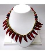 Necklace Pendant Wooden Bead Handmade Jewelry Ethnic Boho Choker Fusion ... - $13.85