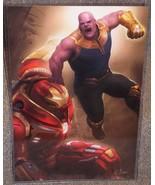 Avengers Thanos vs Hulkbuster Glossy Art Print 11 x 17 In Hard Plastic S... - $24.99