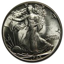 1945 Walking Liberty Half Dollar 90% Silver Coin Lot# MZ 3736