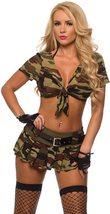 Sexy Military Commando 2 Piece Boot Camp Babe Costume Cami Set