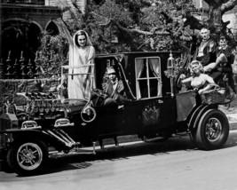 Munsters Car Cast Fred Gwynne Vintage 8X10 BW TV Memorabilia Photo - $6.99