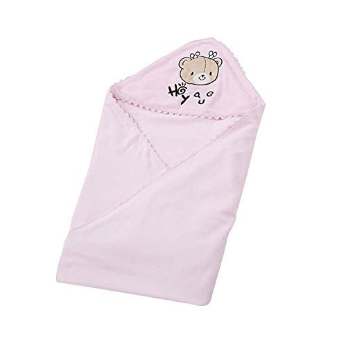 Pink,Pure Cotton Thin Swaddling Clothes/Blanket/Bathrobe Soft Comfortable