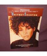 I Will Always Love You Sheet Music 1992 Whitney Houston Piano Dolly Parton - $11.99