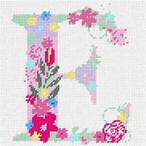 pepita The Letter E Flowering Pastel Needlepoint Canvas - $39.60