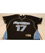 Johns Hopkins Blue Jays Lacrosse Nike College Mens Black Blue Jersey Lar... - $24.30