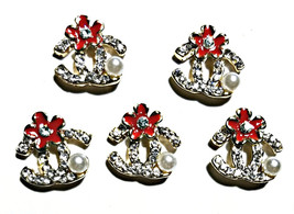 5pc Nail Art Charms 3D Nail Rhinestones Decoration Jewelry DIY Bling C53 - $4.69