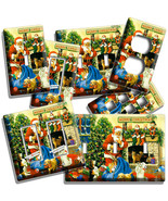 RETRO SANTA CLAUSE GIFTS CHRISTMAS TREE LIGHT SWITCH OUTLET WALL PLATE A... - $10.22+