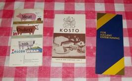 VTG MID CENTURY MODERN RECIPE BOOKS BANANA ALCOA MEAT KOSTO BOLS OSTER L... - $45.00