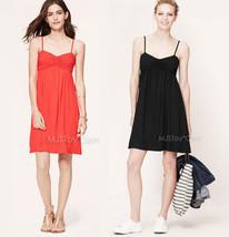 Nwt Ann Taylor Loft Ruched Cami Stylish Casual Comfy Perfect Soft Summer Dress - $39.99