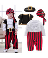 StylesILove Infant Baby Boy Cap'N Stinker Pirate Halloween Costume 4 pcs... - $24.99