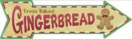 "Gingerbread Cookies Novelty Metal Arrow Sign 17"" x 5"" Wall Decor - DS - $21.95"