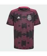 adidas Youth Mexico 2020-21 Home Soccer Jersey Size Small FT9646 Black/Pink - $62.37