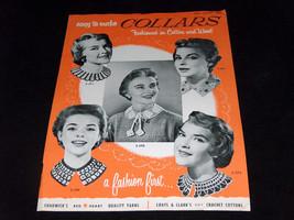 1954 Chadwicks Estambres Abrigos & Clarks Croché Fácil para Hacer Cuello... - $8.26