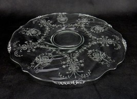 Heisey, ORCHID Elegant Glass,Etched Platter, Torte Plate, or Sandwich Pl... - $29.35