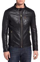 Men's Leather Jacket Biker Premium Lambskin Motorcycle Slim Fit Jackets - $69.29+