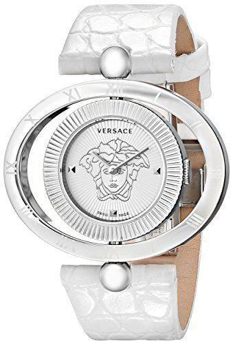 Versace 91Q99D002S001 Eon Ellipse Leather Ladies Watch