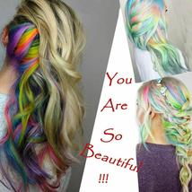 Long Natural Hair Clip In Rainbow Hair Extensions image 9