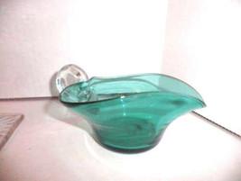 Teal Ring-Handled Elegant Depression Glass Creamer - $19.96
