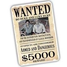 Dukes of Hazzard Wanted Poster Bo Duke And Luke Duke Design Aluminum Sign - $15.79