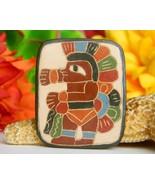 Vintage Carved Etched Wood Brooch Pin Native American Indian Dancer - $27.95