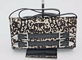 NWT MICHAEL Michael Kors Robin Black White Leather Clutch Shoulder Bag N... - $198.00