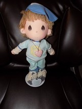 """BOBBY""  ""1985""  PRECIOUS MOMENTS DOLL #4585 NEW W/STAND - $32.00"