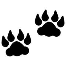 LiteMark 4 Inch Black Removable Lion Tracks - Pack of 30 - $27.95