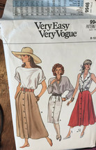 Vogue 9946 Misses Skirts Sizes 8-10-12 Vintage Sewing Pattern Uncut - $21.53