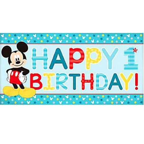 Mickey Fun To Be One Horizontal Giant Banner 1st Birthday Party