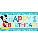 Mickey Fun To Be One Horizontal Giant Banner 1st Birthday Party - $5.53 CAD