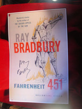 "Fahrenheit 451 11"" x 17"" display poster signed by Ray Bradbury - $269.50"