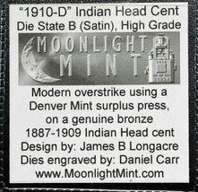 RARE 1910D Token Fantasy Dan Carr Struck On Indian Head Cent Coin Lot A 518 image 3