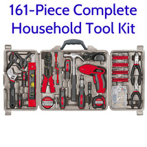 161 Piece Complete Household Tool Kit w/ 4.8V Cordless Screwdriver Hand ... - $249.00