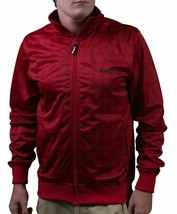 Bench UK Cornish J Zip Up Red Plaid Warm Up Track Jacket BMEA1393J NWT