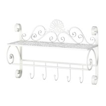 Decorative Wall Shelf, Flourish Kitchen Storage Wall Shelf Displaywith H... - $56.99