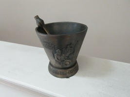 "Mortar and Pestle, Brass , Pharmacy , Rx , Wm. Proctor , 5""X5""X5"" , Pest... - $75.00"