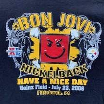 Bon Jovi/Nickelback 2006 Mens Black Concert T-Shirt Large - $32.64